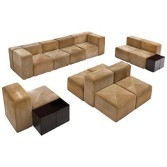 Anonima Castelli Large Sectional Sofa 'System 61' in Cord Upholstery