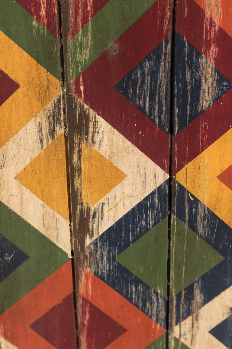 Anonymous Abstract Geometric Painted Board In Good Condition For Sale In Santa Monica, CA