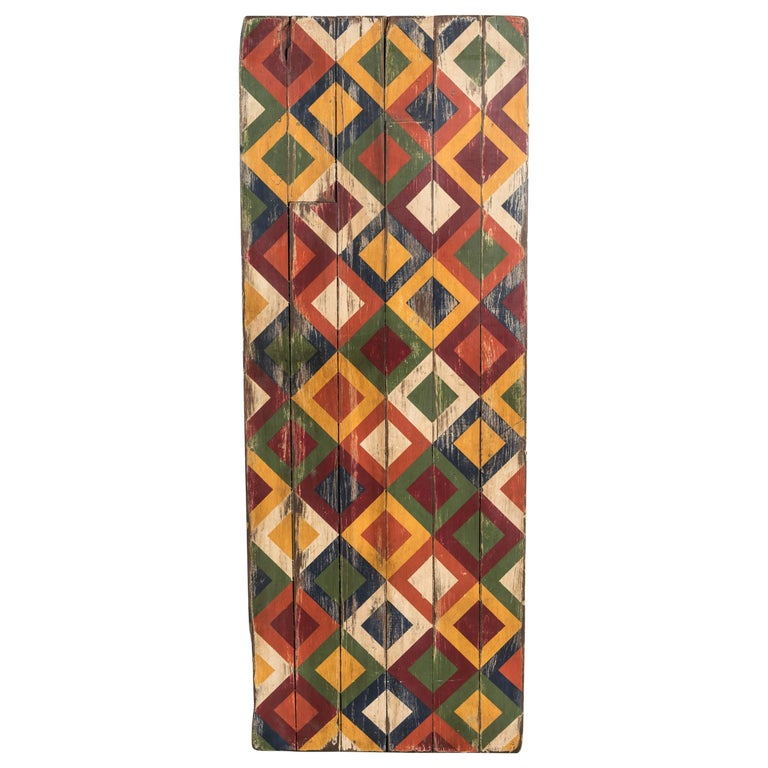 Anonymous Abstract Geometric Painted Board For Sale