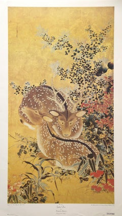 """""""Spotted Deer"""" by Anonymous Japanese Artist. Printed in U.S.A."""