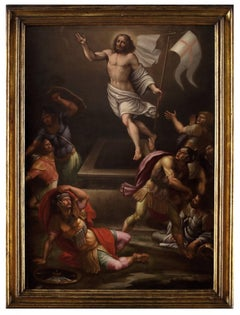 Christ Resurrection  - Oil on Canvas by Anonymous Roman School 1600