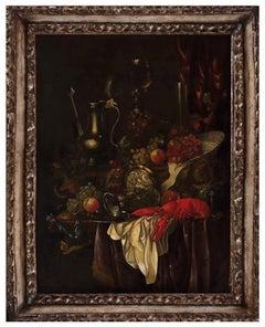 Pair of Still Lives  - Oil on Canvas at Half of 1700