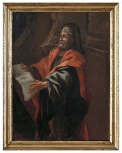 The Philosopher  - Oil on Canvas by Anonymous Neapolitan School 1600