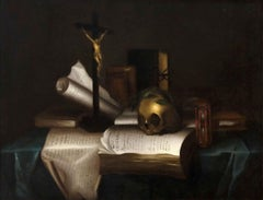 Vanitas - Original Oil on Canvas by Flemish Master - Second Half of 17th Century