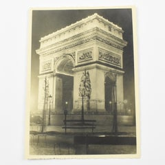 Arc de Triomphe Paris - Silver Gelatin Original Black & White Photograph