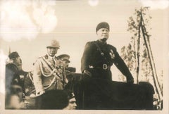 Mussolini and Badoglio - Original Vintage Photo - 1934