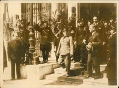 Mussolini and Schuschnigg - Original Vintage Photo - 1937
