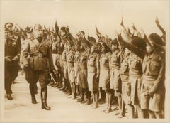Mussolini in Libya - Original Vintage Photo - 1937