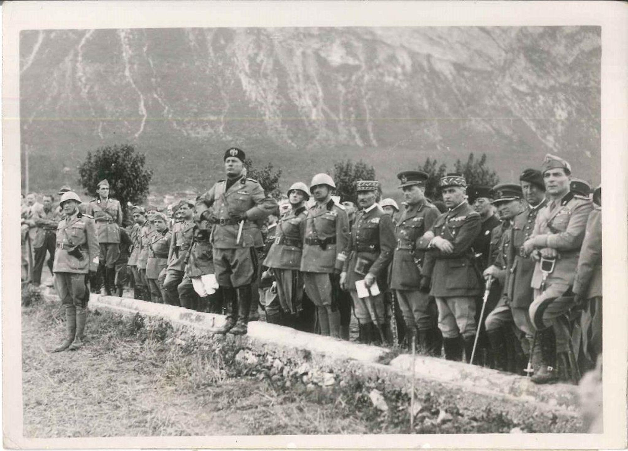 The manoeuvres of the Brenner - Original Vintage Photo - 1935
