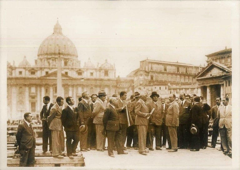 Anonymous Black and White Photograph - Works Nearby St. Peter's - Original Vintage Photo - 1937