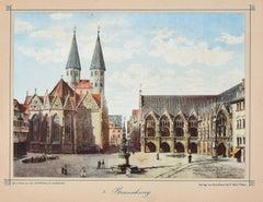 Braunschweig  - Original Lithograph Mid 19° Century