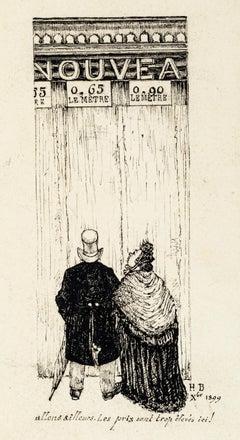 Let's Go Elsewhere - Original Lithograph 1899