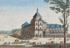 Royal Palace of Aranjuez View - Original Etching 18° Century