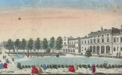 Somerset  Royal Palace View - Original Etching 18° Century