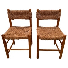 Another Pair of Dordogne Chairs by Charlotte Perriand for Sentou