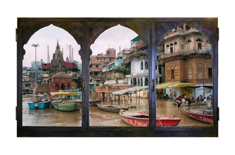 Italian Anotherview n.14 On the Ganges During Monsoon For Sale