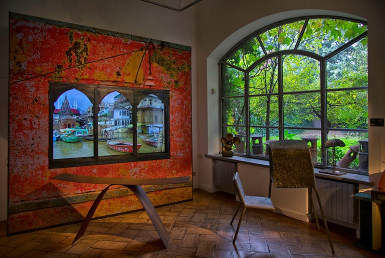 Anotherview n.14 On the Ganges During Monsoon In New Condition For Sale In Milan, IT