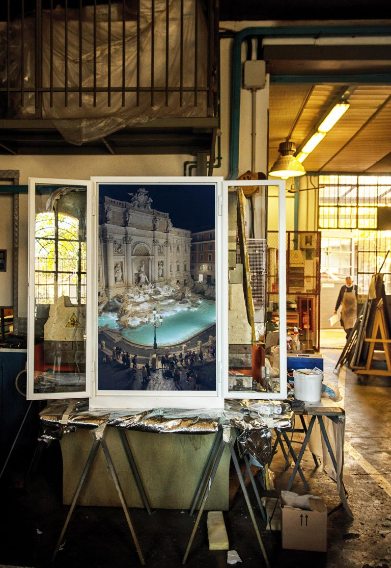 Contemporary Anotherview, No.21, Anotherview N.21 Trevi Fountain a Few Days After Lockdown For Sale