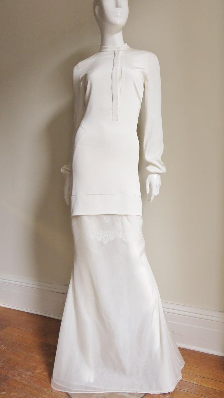 Anotnio Berardi New Off White Silk Maxi Gown  For Sale 7