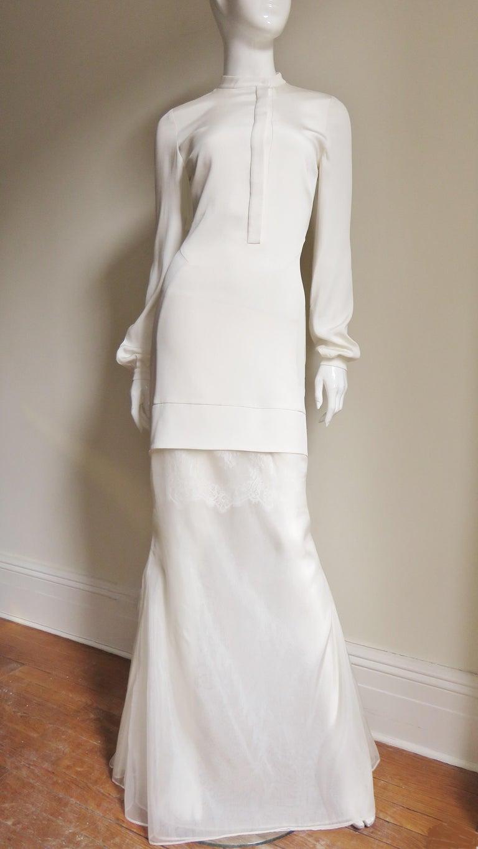 Anotnio Berardi New Off White Silk Maxi Gown  For Sale 8