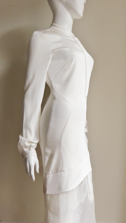 Anotnio Berardi New Off White Silk Maxi Gown  For Sale 9