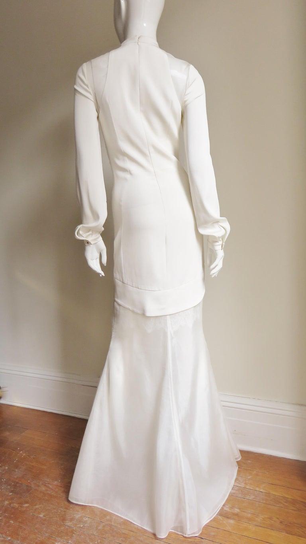 Anotnio Berardi New Off White Silk Maxi Gown  For Sale 10