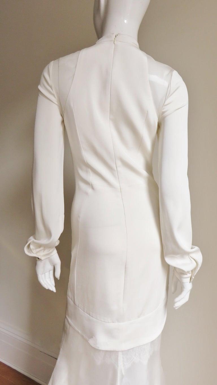 Anotnio Berardi New Off White Silk Maxi Gown  For Sale 11