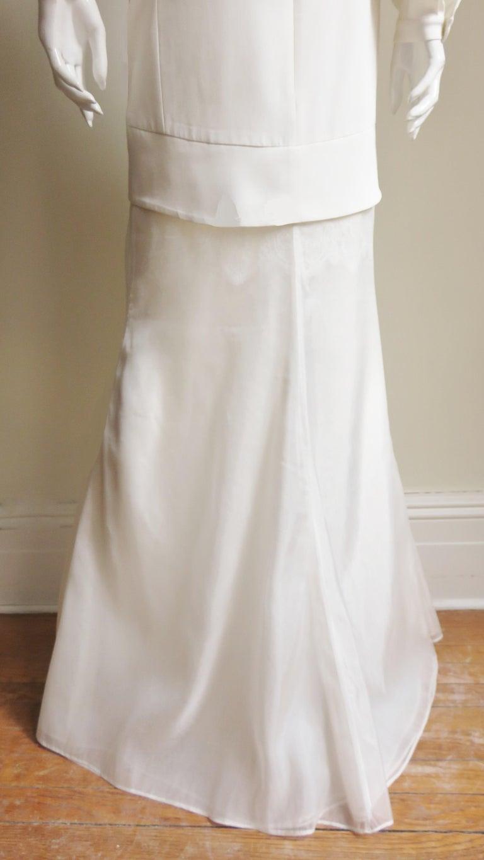 Anotnio Berardi New Off White Silk Maxi Gown  For Sale 14