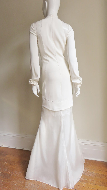 Anotnio Berardi New Off White Silk Maxi Gown  For Sale 15