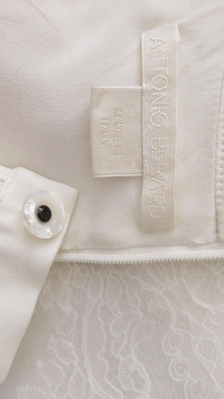 Anotnio Berardi New Off White Silk Maxi Gown  For Sale 16