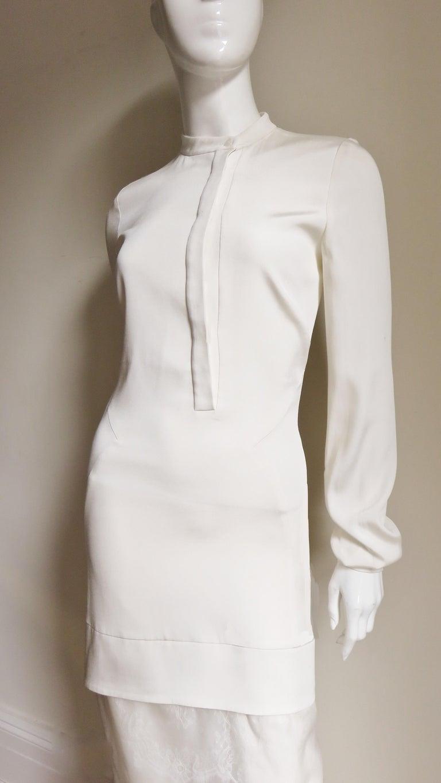 Women's Anotnio Berardi New Off White Silk Maxi Gown  For Sale