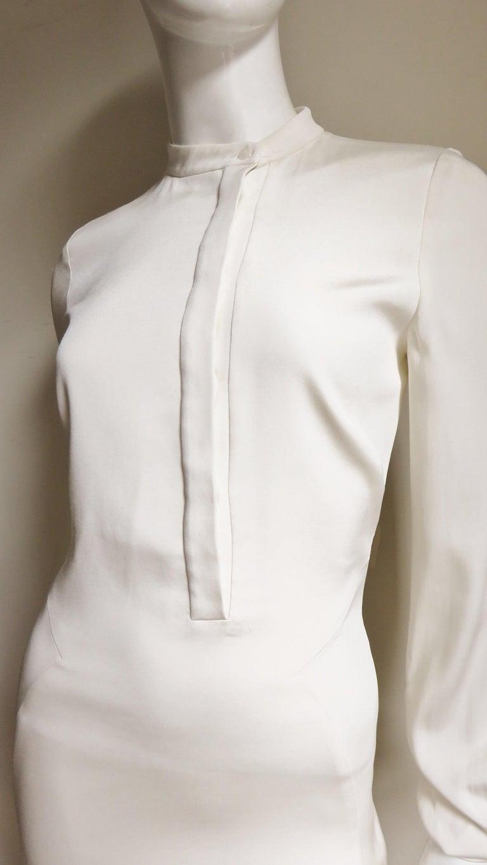Anotnio Berardi New Off White Silk Maxi Gown  For Sale 1