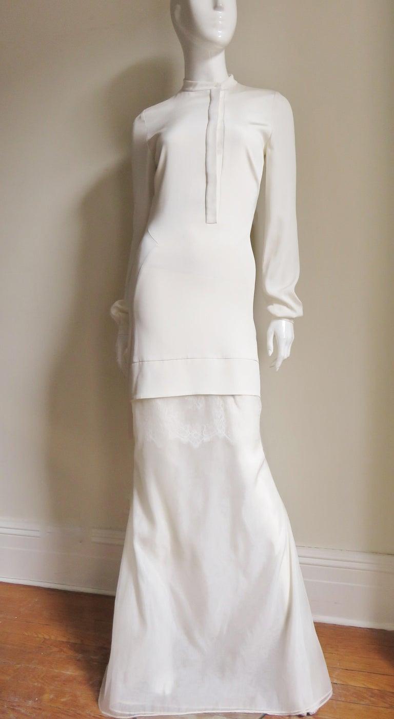 Anotnio Berardi New Off White Silk Maxi Gown  For Sale 2