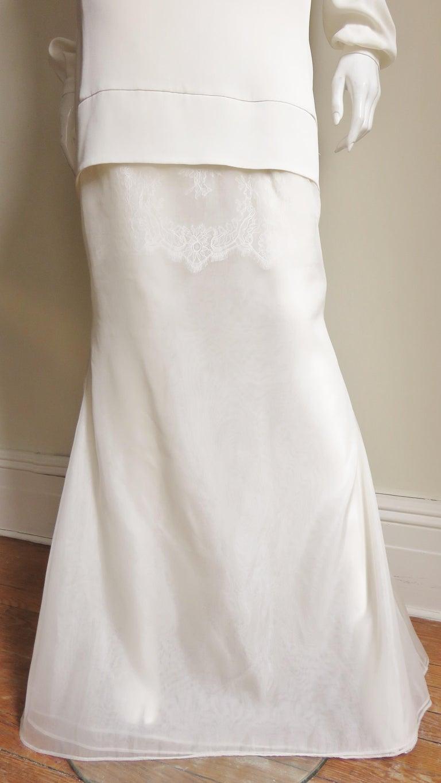Anotnio Berardi New Off White Silk Maxi Gown  For Sale 5