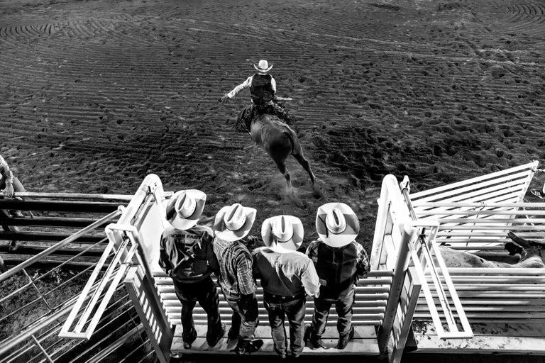 Anouk Krantz Black and White Photograph - Bull Rider