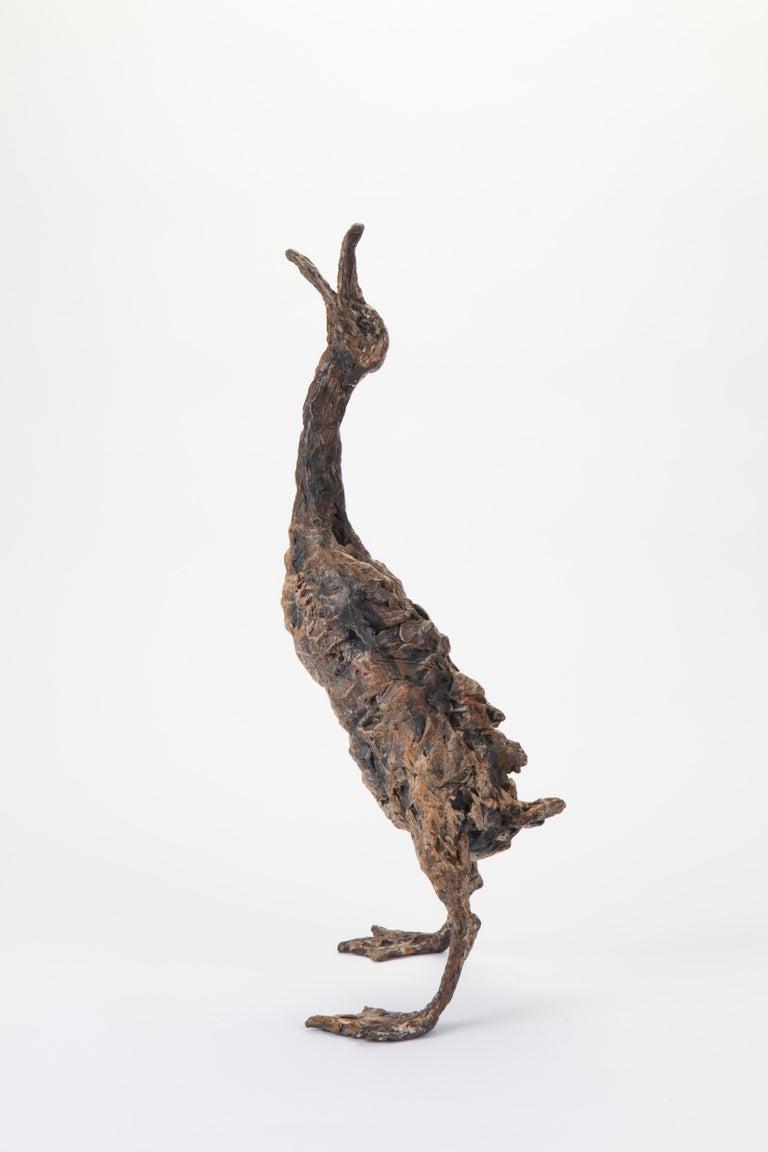 ''Quacking Duck'', Contemporary Bronze Sculpture Portrait of a Duck For Sale 1