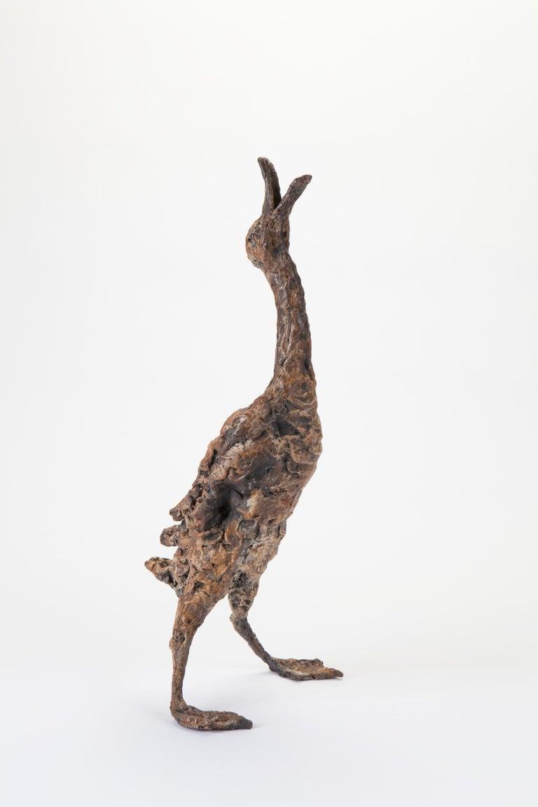 Ans Zondag Figurative Sculpture - ''Quacking Duck'', Contemporary Bronze Sculpture Portrait of a Duck