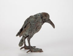 ''Unlucky Bird'', Contemporary Bronze Sculpture Portrait of a Bird