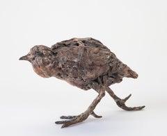 ''Water Bird'', Contemporary Bronze Sculpture Portrait of a Water Bird