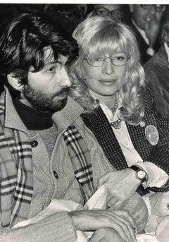 Portrait of Monica Vitti - B/W photo by ANSA - 1970s