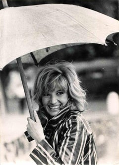 Vintage Portrait of Monica Vitti - Vintage B/W photo by ANSA - 1970s