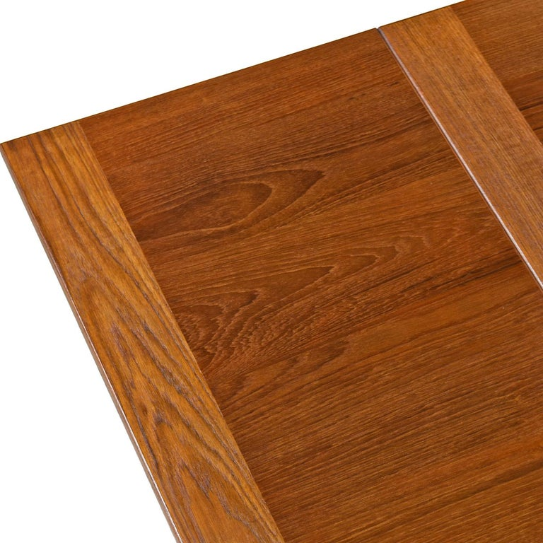 Ansager Danish Teak Beech Expanding Dining Table In Excellent Condition In Saint Petersburg, FL