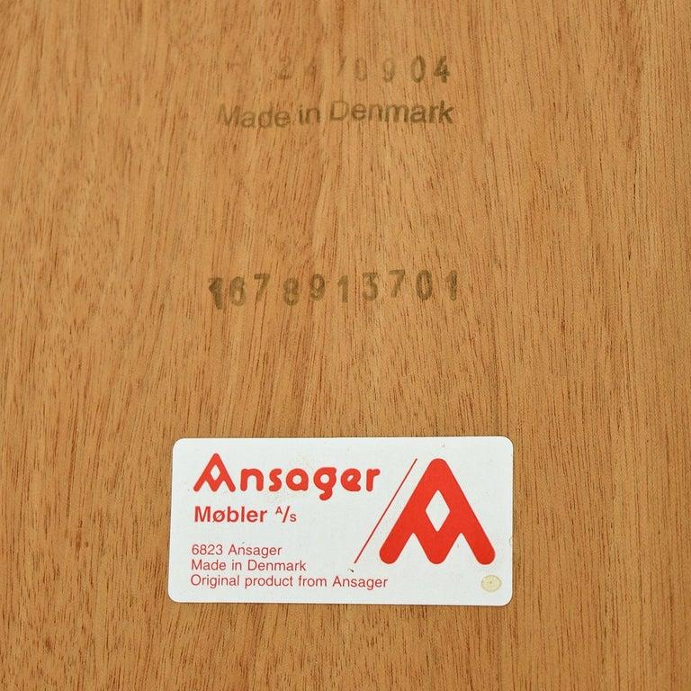 Ansager Danish Teak Beech Expanding Dining Table 2