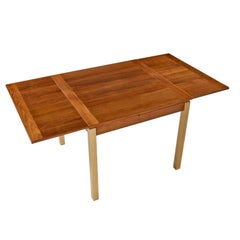 Ansager Danish Teak Beech Expanding Dining Table
