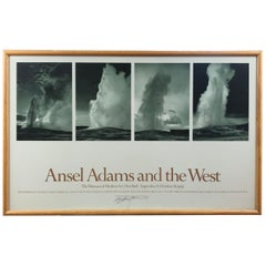 """Ansel Adams And The West"" The Museum of Modern Art Signed Poster"