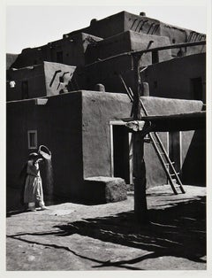 Ansel Adams. Winnowing Grain, Taos, Pueblo, NM, 1929, Silver gelatin print.