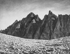 Bishop Pass and the Inconsolable Range, a Photograph by Ansel Adams