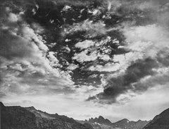 Devils Crags from Palisade Creek Canyon, a Photograph by Ansel Adams