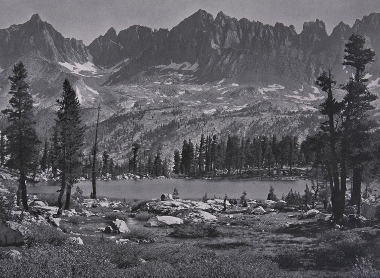 "Kaweah Peaks from Little Five Lakes, a Photograph by Ansel Adams. Kaweah Peaks from Little Five Lakes, a Photograph by Ansel Adams.  This gorgeous photograph is from Ansel Adams epic work ""SIERRA NEVADA, The John Muir Trail"", a book published in"
