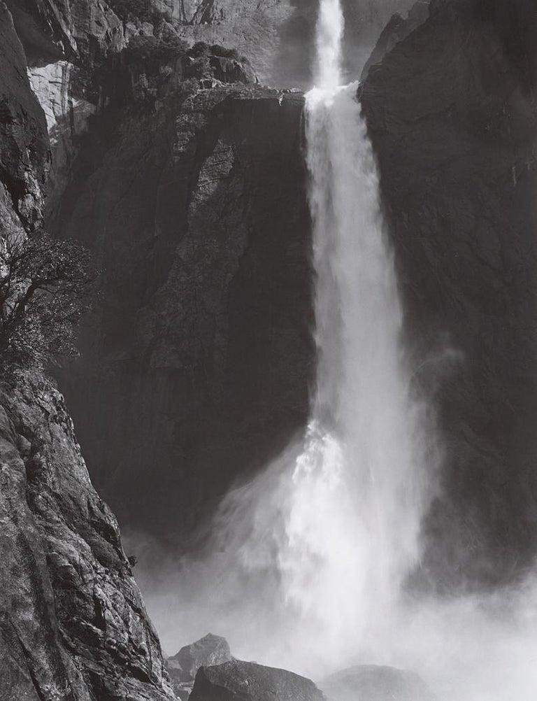 Ansel Adams Black and White Photograph - Lower Yosemite Fall